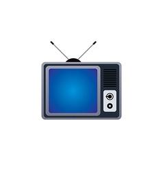 flat televison icon vector image