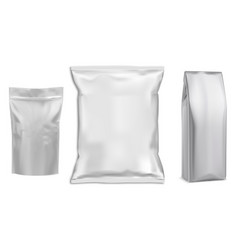 food bag white package food pouch foil pack vector image