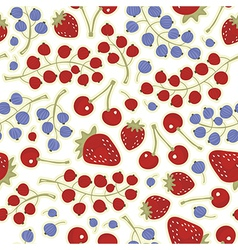 Fruit berry pattern vector
