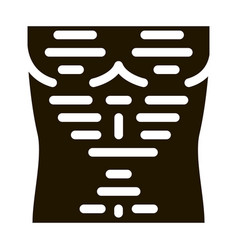 hairy chest icon glyph vector image