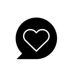 heart black glyph icon vector image