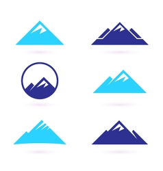 Hill or mountain icons vector