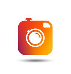 Hipster photo camera sign icon retro camera vector