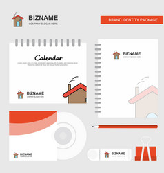 home logo calendar template cd cover diary and vector image