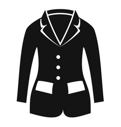 horse riding jacket icon simple style vector image