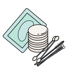 Hygiene icons Picture lash extensions vector
