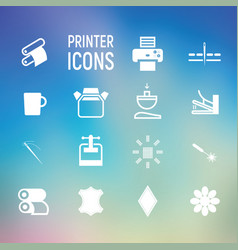 icons types of printing typography vector image
