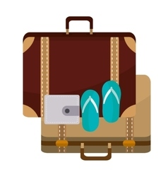 Isolated bag and sandals of travel design vector
