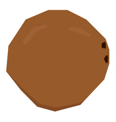 Isolated geometric coconut vector