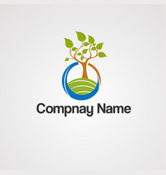 Jungle agriculture logo icon element vector