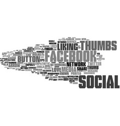 liking word cloud concept vector image