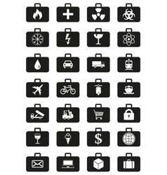 Logistics services around the world icons set vector image