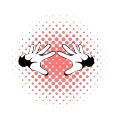 Magicians hands icon comics style vector image