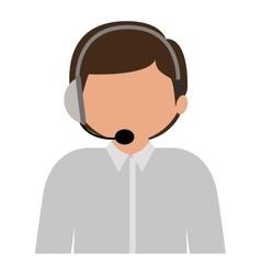 male customer service silhouette icon vector image
