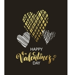 metallic paint heart vector image