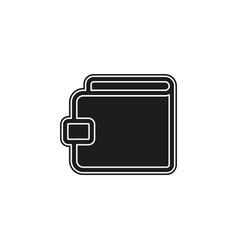 money wallet with dollar cash financial icon vector image