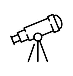 Monochrome telescope simple icon observation vector