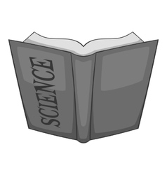 Open education book icon gray monochrome style vector image