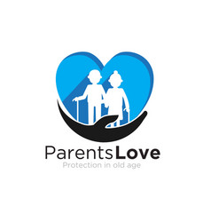 Parents love logo designs care for foundation vector
