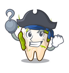 Pirate character unhealthy decayed teeth before vector