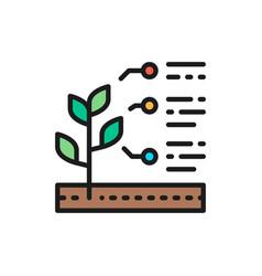 Plant properties seed characteristics flat vector