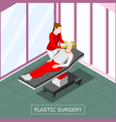 Plastic surgery isometric background vector