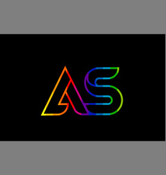 rainbow color colored colorful alphabet letter as vector image