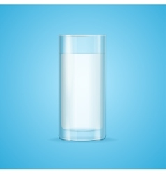 Realistic Milk Glass vector image