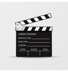 Realistic movie clapperboard vector image
