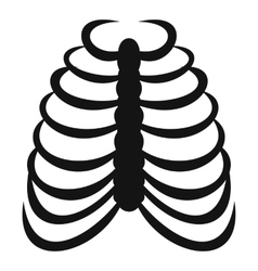 Rib cage icon simple style vector