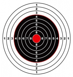 rifle target vector image