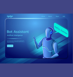robot assistant vector image