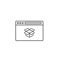 seo packages icon browser with box vector image
