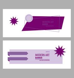 Set abstract geometric design banner web vector
