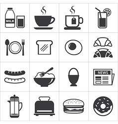 Set breakfast icon vector