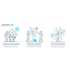 Set concept with businessmen vector
