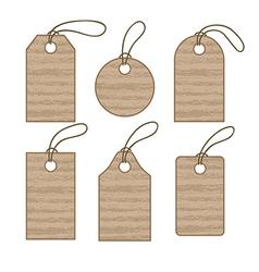 Set of cardboard tags vector