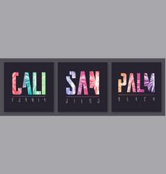 Set stylish graphic t-shirt designs vector