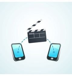 shoot a movie on your phone vector image