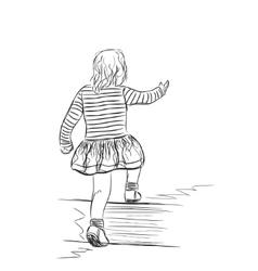 Small girl vector
