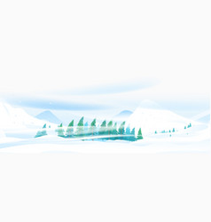 snow blizzard in mountain vector image