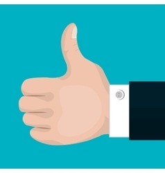 Symbol thumb up with suit isolated vector