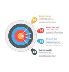 target infographics vector image