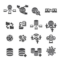 tectnology and data icon vector image