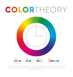 template color theory circle vector image