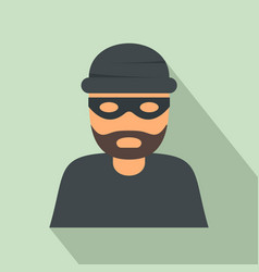 thief icon flat style vector image