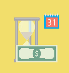 time for money salary vector image vector image