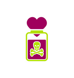 Toxic relationships sign vector