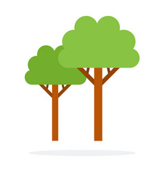 trees flat material design isolated object on vector image