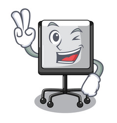 two finger presentation board character in table vector image